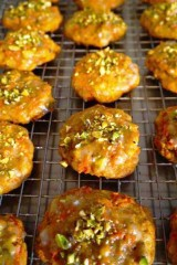 Carrot-Cardamom-Walnut Cookies