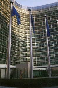 The front of the European Commission in Brussels, Belgium.